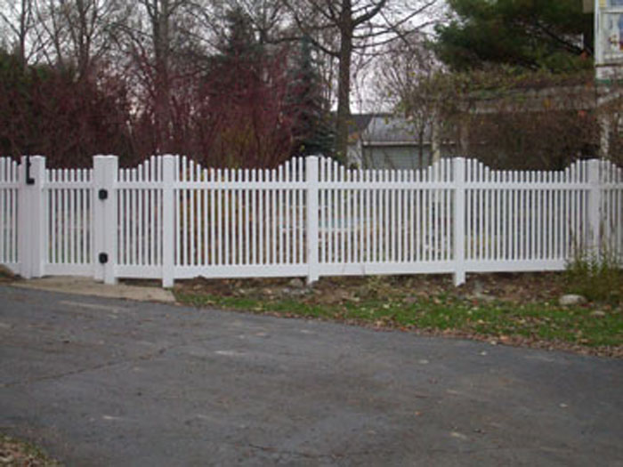 White Plastic Picket Fencing  Gates