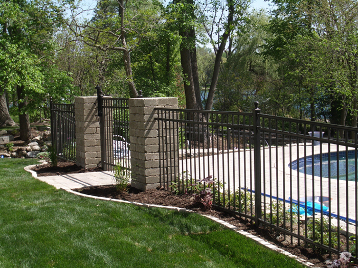 Aluminum picket fencing gates and fences ornamental fence