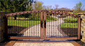 home security with steel fencing, ornamental steel gates and fences